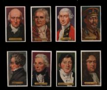 Cigarette cards set, Rudyard Kipling, Florence Nightingale,